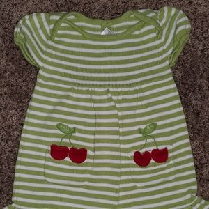 GYMBOREE Green dress with Cherries 5T
